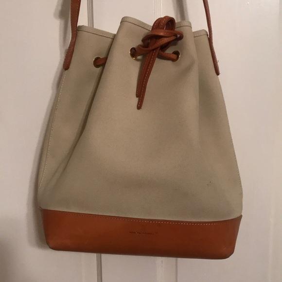 efeaba91c12a Mansur Gavriel canvas leather bucket bag Large. M 5ae292108af1c5db95a0cb5e